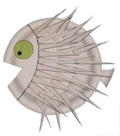 Porcupine Fish Paper Plate Craft. Goes with our ocean theme.