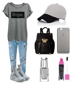 """The answer is NOPE 😛"" by leah3000 ❤ liked on Polyvore featuring Levi's, Puma, rag & bone, Native Union and Ivanka Trump"