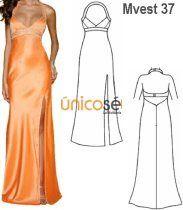 Moldes de vestidos de fiesta corte princesa