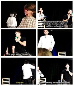 [GIFSET] like father like son LOL <3 <3 Jared is just like Thomas according to Jensen <3 ;)