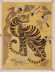 Korean folk painting - wow I wish I could get a print of this!