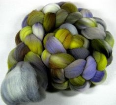 Name Your Poison 1 Falkland wool top for spinning and by yarnwench, $15.38