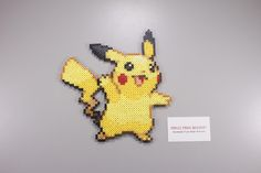 Perler and Artkal fuse bead Pokemon Pikachu by Manic Made Geekery