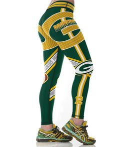 Green Bay Packers Printed Leggings & Yoga Pants High Quality (NEW)