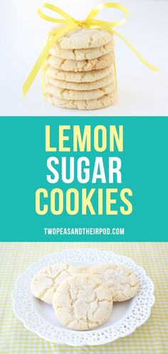 Lemon Sugar Cookies are soft, chewy, and bursting with lemon flavor. They are the BEST sugar cookies and the perfect dessert for parties or every day!