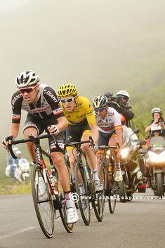 Tom DuMoulin and Geraint Thomas, Tour de France 2018 Col du Solour. Photo John Allen www.johnallenpics.co.uk