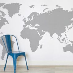 World map outline painting project tutorial bloggers best black and white map wallpaper mural muralswallpaper gumiabroncs Choice Image