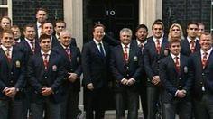 Manu Tuilagi gives David Cameron the ears!