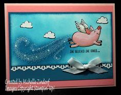 She Believed She Could Stampin' Up! Card created by Michelle Zindorf - This Little Piggy Stamp Set