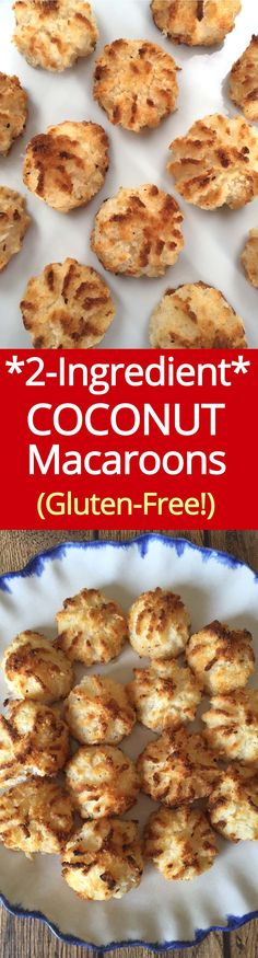 2-Ingredient Coconut Macaroons - amazing gluten-free cookies from MelanieCooks.com! #glutenfree #coconut #macaroons