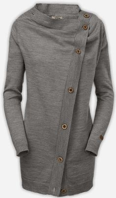 b310c2d0b14 Grey  NorthFace Side Button Wrap Sweater either this or the  wrapture  Sweater Shirt