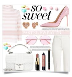 """""""Pastel Sweaters"""" by mistressofdarkness on Polyvore featuring MaxMara, Joseph, Prada, Oliver Peoples, Bobbi Brown Cosmetics and BERRICLE"""