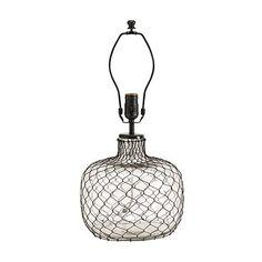 Emmett Table Lamp Base - french wire in twisted black wire - Ballard Designs