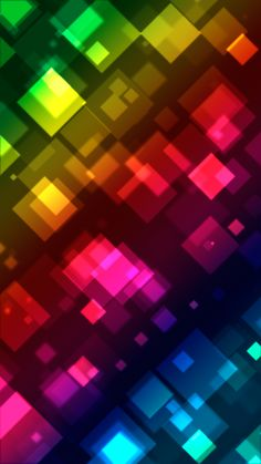 Colorful square bokeh. Beautiful abstract iPhone wallpapers. Tap to see more! - @mobile9