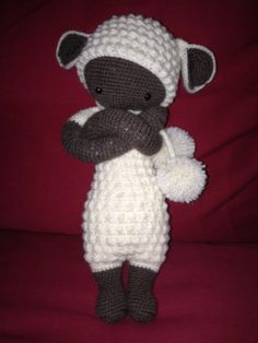 LUPO the lamb made by Ines / crochet pattern by lalylala