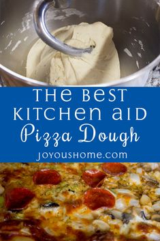 This is our best Kitchen Aid pizza dough recipe! This is our best Kitchen Aid pizza dough recipe! - This is our best Kitchen Aid pizza dough recipe! Best Pizza Dough Recipe, Easy Pizza Dough, Pizza Dough Recipe Stand Mixer, Pizza Dough Bread Machine, Calzone Dough, Pizza Dough Kitchen Aid, Kitchenaid Mixer Pizza Dough Recipe, Kitchen Aid Mixer, Pizza Recipes