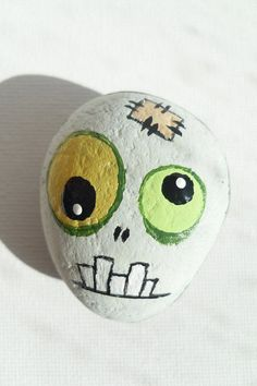 Zombie Painted Zombie's Head Painted Sea by ChestFullOfMemories