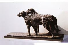 """Inseparable Brothers,"" Irish Wolfhounds by Lorne McKean FRBS RSA"