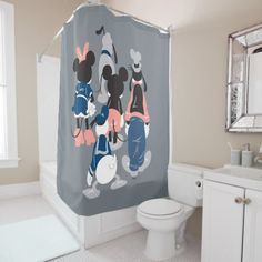 Mickey | Mickey Friend Turns Shower Curtain