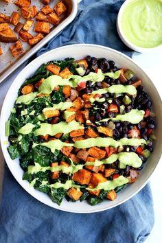 Beef Recipes, Whole Food Recipes, Cooking Recipes, Healthy Recipes, Vegan Bowl Recipes, Healthy Soup, Sweet Potato Kale, Roasted Sweet Potatoes, Vegan Sweet Potato Recipes