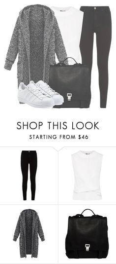 """""""Outfit #1185"""" by sofiaabaarona1998 on Polyvore featuring moda, 7 For All Mankind, Proenza Schouler y adidas Originals"""