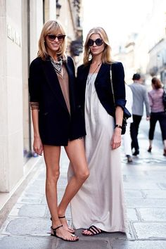 maxi dress + blazer = perfect for fall