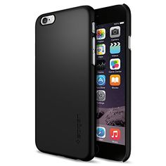iPhone 6 Case, Spigen® [Non-Slip] [Perfect-Fit] iPhone 6 (4.7) Case Slim **NEW** [Fit Series] [Thin Fit] [Smooth Black] Premium SF Coated Non Slip Surface with Excellent Grip Matte Hard Case - ECO-Friendly Packaging - Slim Case for iPhone 6 (4.7) (2014) - Smooth Black (SGP10936) Spigen http://www.amazon.com/dp/B00JH87ZSQ/ref=cm_sw_r_pi_dp_gw1tub1GC3HBW