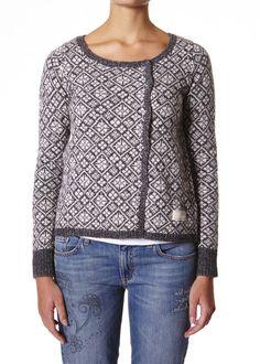 Odd Molly Snowman Sweater - dark grey M714-746 FW14