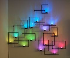 30 Best DIY Wall Arts For Your Home Decor. 20 Amazing DIY Wall Art Projects For Your Home Decor, DIY Geometric Neon Lights Wall Art Sconces, DIY Lighting. Give your room an amazing look with these simple DIY wall arts. Metal Tree Wall Art, Diy Wall Art, Wall Art Decor, Diy Art, Cheap Wall Decor, Home Wall Art, Light Wall Art, Wall Lights, Diy Wanddekorationen