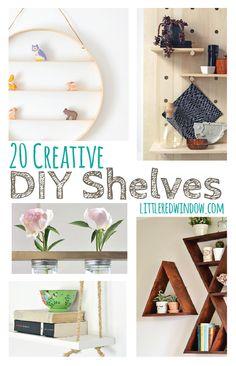 20 Creative DIY Shelves | littleredwindow.com