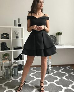 Cute black v neck short prom dress, homecoming dressYou can find Dresses for teens and more on our website.Cute black v neck short prom dress, homecoming dress Mini Prom Dresses, Dresses Short, Trendy Dresses, Cute Dresses, Evening Dresses, Formal Dresses, Black Graduation Dresses, Dance Dresses, Wedding Dresses