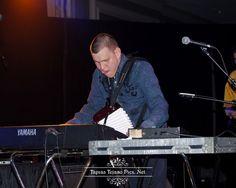 Juanito Castillo playing the keys ..