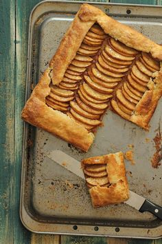 An easy replacement for apple pie. This apple galette is packed full of sliced apples in a cinnamon caramel sauce and baked in a flaky cream cheese pastry.
