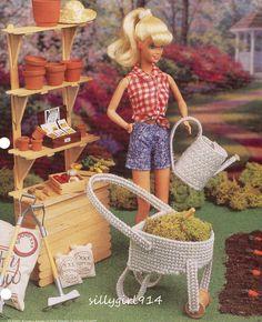 "Barbie Plastic Canvas House Patterns   Gardening Set"" Plastic Canvas Pattern…"