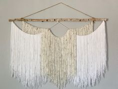 5 ft wide macrame piece perfect for photo backdrops or as a focal point in any room adding texture to your walls!