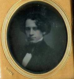 Antique Daguerreotype Young Victorian Man Mat Stamped Davis | eBay