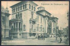 Rio de Janeiro - Exposição do Centenário 1922, Viação e Agricultura - Foto Malta - Cartão Postal ant