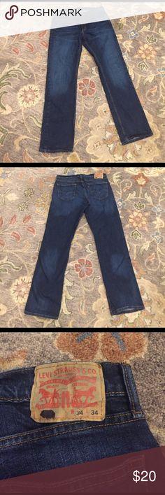 Levi Jeans - W34 L34 Blue W34 / L34 - Excellent Condition Levi's Jeans Straight