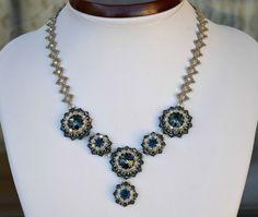 Jewelry set with swarovski blue and silver by HandmadeIDanielle