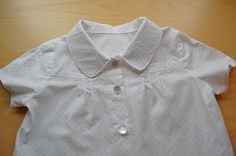 Oliver + S Music Class blouse. Fabric is Moda's Essential dots baby pink