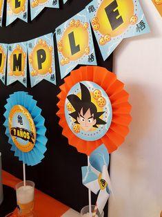 Kit imprimible Dragon Ball Goku Birthday, Dragon Birthday, Dragon Party, 7th Birthday, Ball Birthday Parties, Birthday Party Themes, Dragon Time, Cheap Party Decorations, Dbz