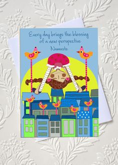 Yoga affirmation greeting card  idocaredesigns.com    Quote by: Elana Epstein Design by: Jazmin Sasky