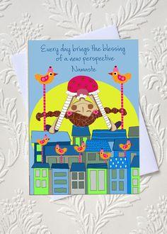 Yoga affirmation greeting card  idocaredesigns.com    Quote by: Elana Epstein Design by: Jazmin Sasky