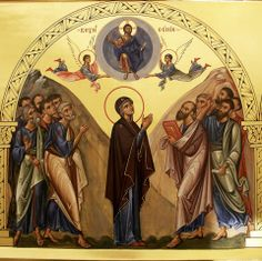 The Ascension of Christ Byzantine Icons, Byzantine Art, Religious Icons, Religious Art, Transfiguration Of Jesus, Ascension Day, Jesus In The Temple, Assumption Of Mary, Greek Icons