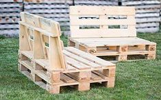 Handmade Pallet Furniture For Sale Pallet Furniture Designs, Pallet Garden Furniture, Diy Furniture, Diy Pallet Couch, Pallet Chair, Pallet Walls, Pallet Seating, Pallet Lounge, Small Balcony Decor