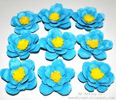 Egg carton flowers (Friday Fun Party- Craftionary)