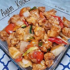 Resep ayam asam manis © 2020 Instagram/@maybelin_ma ; Instagram/@mrs.wijaya Indonesian Food, Indonesian Recipes, Kung Pao Chicken, Food Pictures, Delish, Food Porn, Food And Drink, Tasty, Fresh