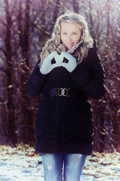 Winter heart portrait