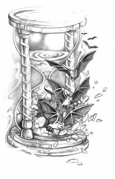 Hourglass Drawing, Hourglass Tattoo, Time Tattoos, Wolf Tattoos, Cool Drawings, Tattoo Drawings, Hour Glass Tattoo Design, Pencil Drawing Inspiration, Dragonfly Drawing