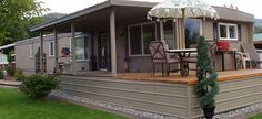 Mobile home porch and deck remodel via Mobile Home Living
